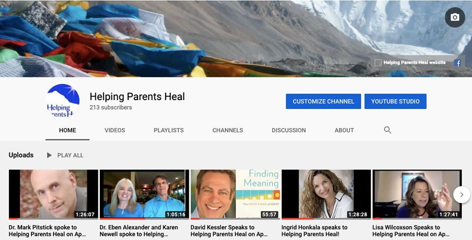 The new Helping Parents Heal Youtube Channel!